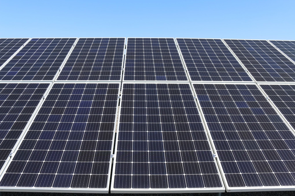 Image of solar power system panels